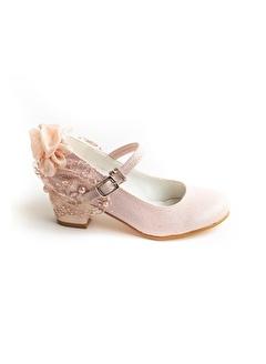 Minipicco Kız Cocuk Pudra Özel Tam Çocuk Abiye Ayakkabı